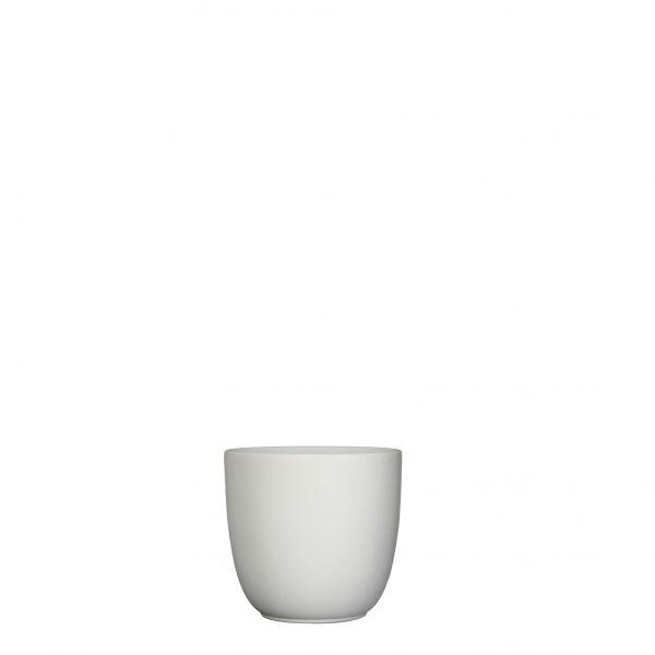 Tusca pot rond wit mat - h11xd12cm