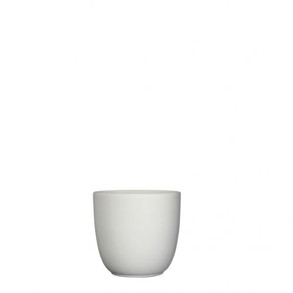Tusca pot rond wit mat - h13xd13,5cm
