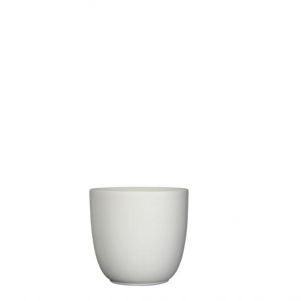 Tusca pot rond wit mat - h14xd14,5cm