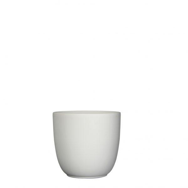 Tusca pot rond wit mat - h16xd17cm