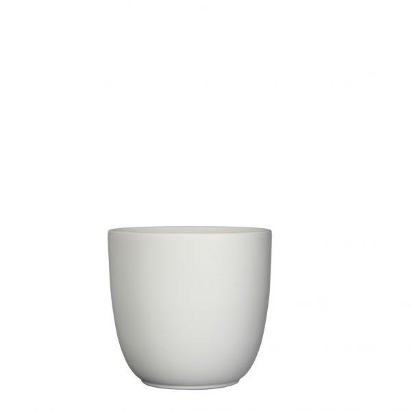 Tusca pot rond wit mat - h18,5xd19,5cm