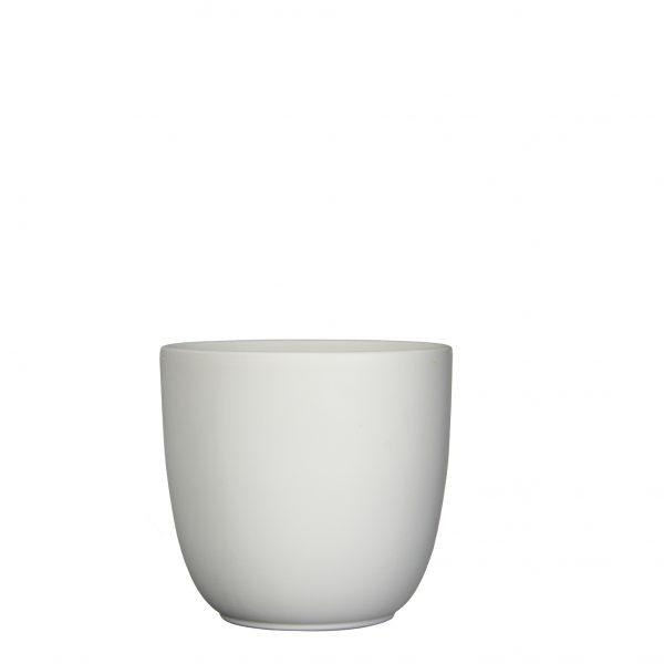 Tusca pot rond wit mat - h20xd22,5cm