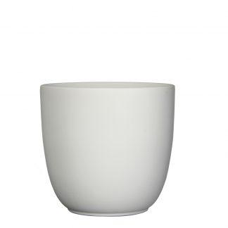 Tusca pot rond wit mat - h28,5xd31cm