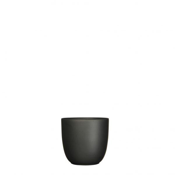 Tusca pot rond zwart mat - h11xd12cm