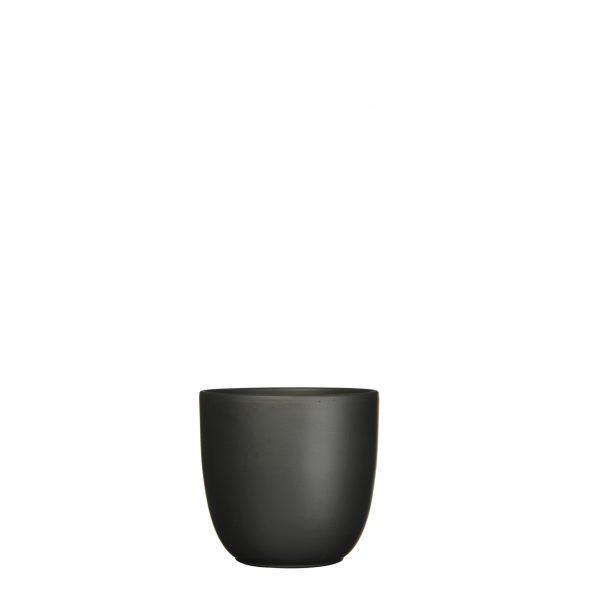 Tusca pot rond zwart mat - h13xd13,5cm