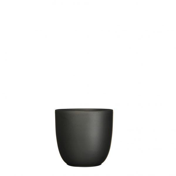 Tusca pot rond zwart mat - h14xd14,5cm