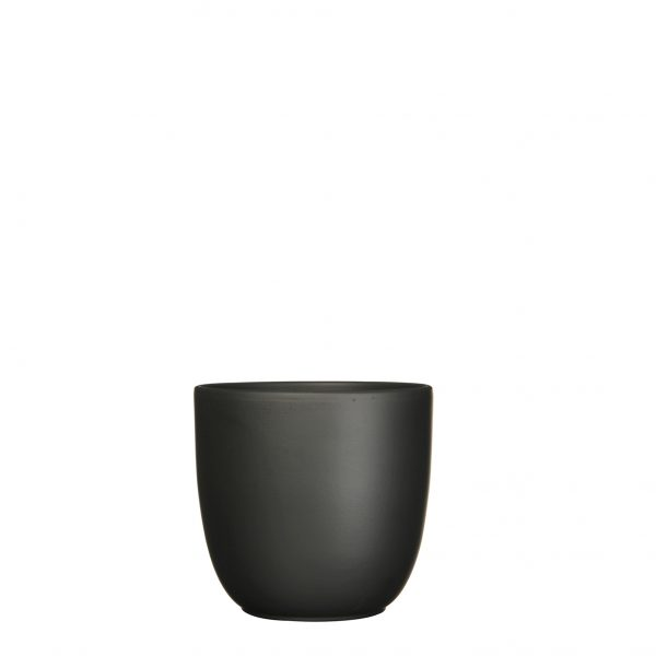 Tusca pot rond zwart mat - h16xd17cm
