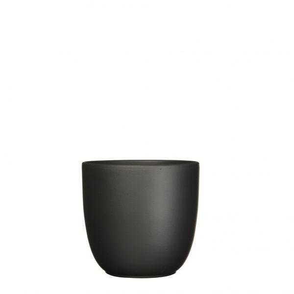 Tusca pot rond zwart mat - h18,5xd19,5cm