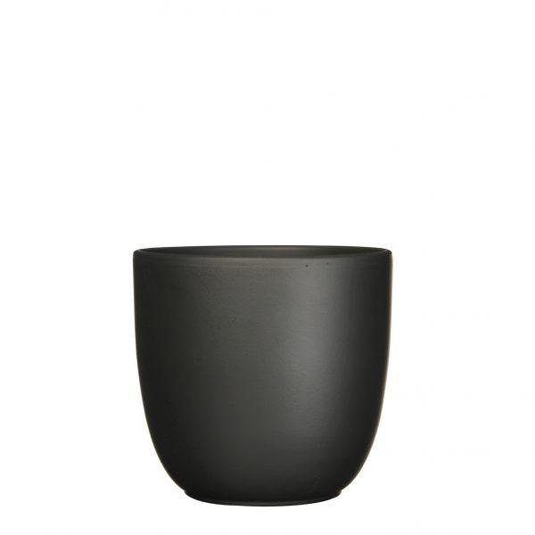 Tusca pot rond zwart mat - h23xd25cm