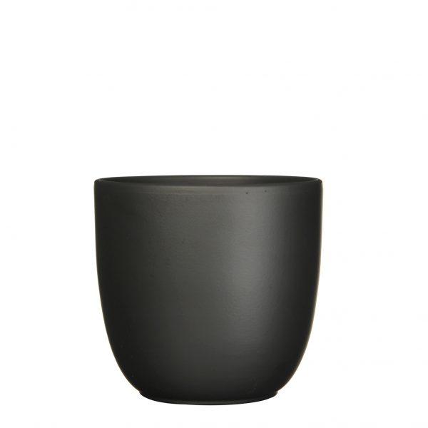 Tusca pot rond zwart mat - h25xd28cm