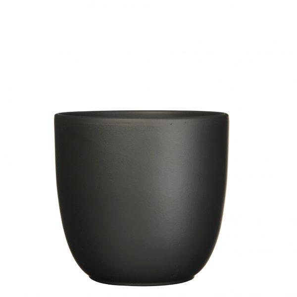 Tusca pot rond zwart mat - h28,5xd31cm