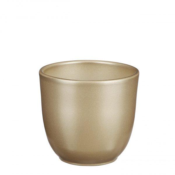 Tusca pot rond goud - h11xd12cm