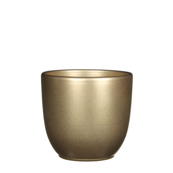 Tusca pot rond goud - h13xd13,5cm