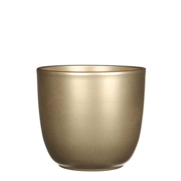 Tusca pot rond goud - h14xd14,5cm