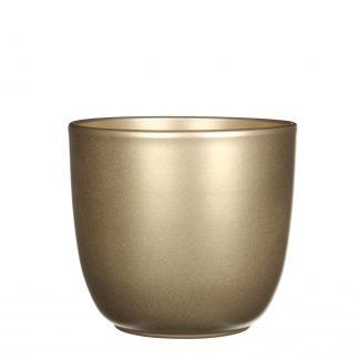 Tusca pot rond goud - h16xd17cm