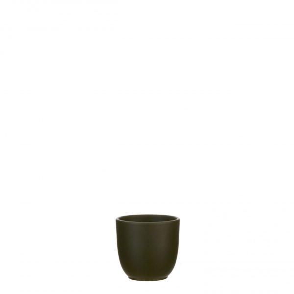Tusca pot rond d. groen - h11xd12cm