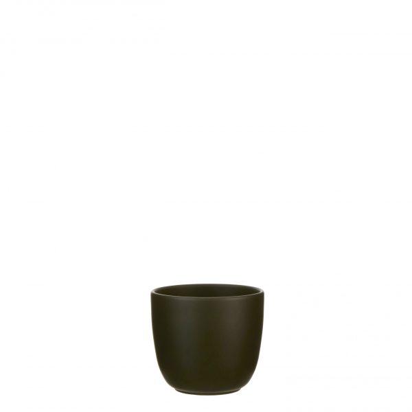 Tusca pot rond d. groen - h14xd14,5cm