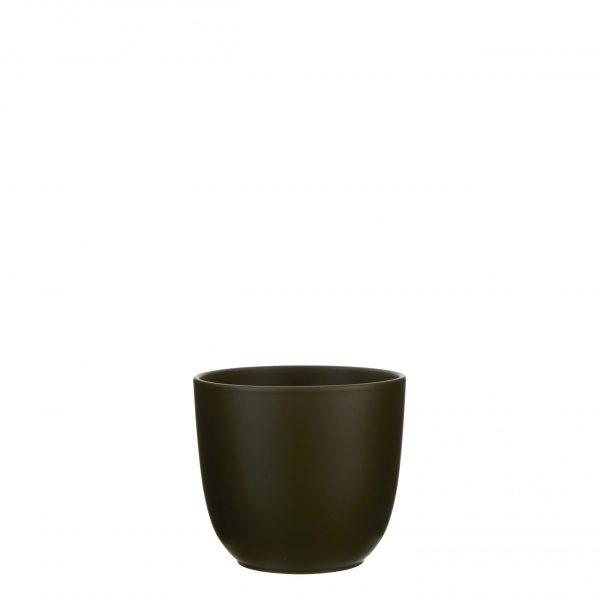 Tusca pot rond d. groen - h18,5xd19,5cm