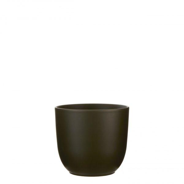 Tusca pot rond d. groen - h20xd22,5cm