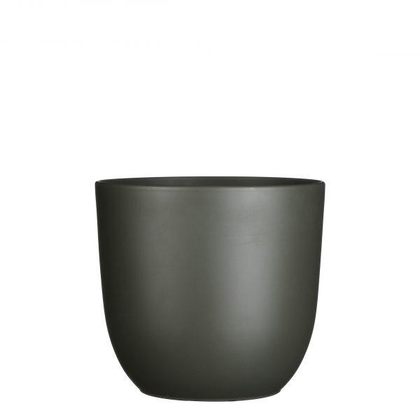 Tusca pot rond d.groen - h23xd25cm
