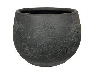 Vaas burgos - h25xd20cm zwart