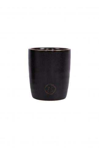 Espresso kopje zwart aardewerk