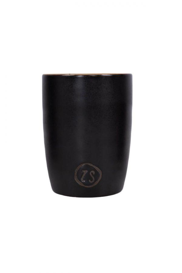 Koffiemok aardewerk zwart
