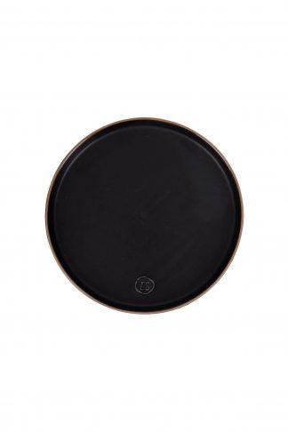 Ontbijtbord aardewerk zwart