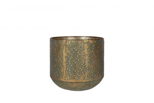 Pot lian - h22xd23cm kopergroen