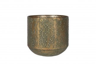 Pot lian - h31xd32cm kopergroen