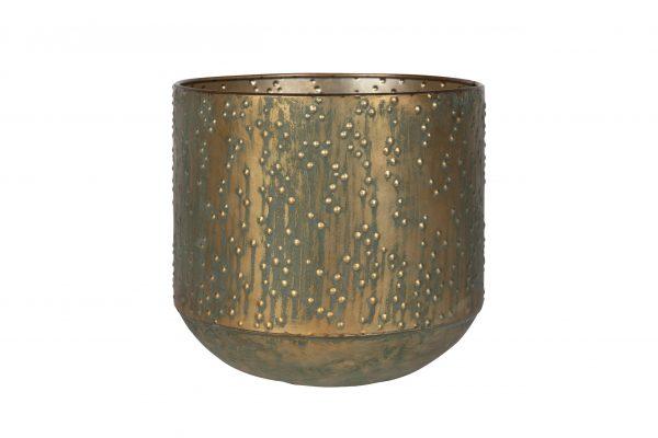 Pot lian - h36xd38cm kopergroen