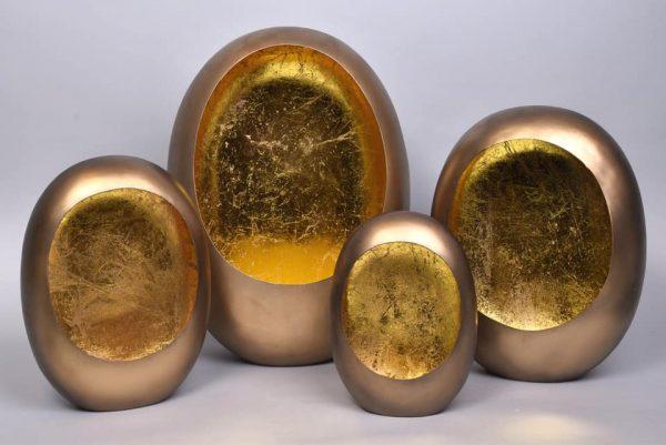 Marrakech Egg t-light gold 28cm